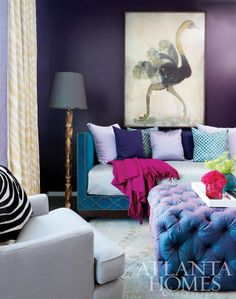 Room Designed By Amy Morris Of Atlanta As Seen In Homes And Lifestyles Jewel Tone