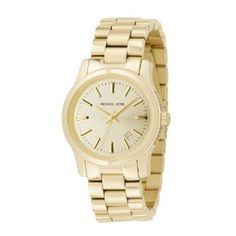 Michael Kors Quartz, Champagne Gold Dial with Goldtone Band - Womens Watch MK5160