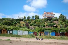These were taken at Coldingham bay on the east coast. Looking out to sea you could see Terns and Ganets diving into the sea like darts, great to watch. Beach Huts, Out To Sea, East Coast, Textile Art, Places Ive Been, Beaches, Scotland, Living Spaces, Places To Visit
