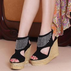 omg so cute must have Dazzling Rhinestone Cut-Outs Peep-Toe Wedge Sandals Click to see this Great Deal! http://elegantshoegirl.com/product/dazzling-rhinestone-cut-outs-peep-toe-wedge-sandals/