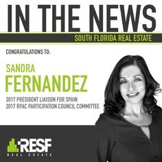 Congratulations to Sandra Fernandez, NAR 2017 Committee Appointments. The passionate you have for our industry is truly inspiring! Thank you for your leadership and service. #NAR #Realestate #RESF