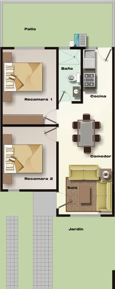 Ryan Shed Plans Shed Plans and Designs For Easy Shed Building! Small Space Interior Design, Interior Design Living Room, Small House Plans, House Floor Plans, Casas Containers, 2 Bedroom House, Apartment Plans, House Layouts, Building Plans