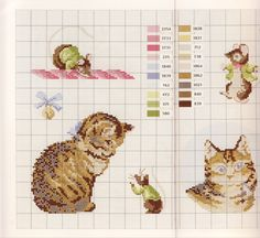 darling kitten cross stitch pattern and color chart too sweet Gallery.ru / Фото #21 - BP1 - KIM-3