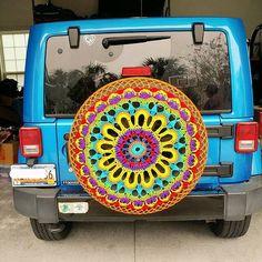 """""""Bright Crochet Tire Cover 😍😍"""""""