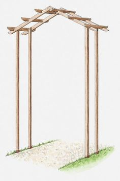 Pin-Worthy Pergolas Learn how to build a simple wooden arch kit with this step-by-step gardening guide from .Learn how to build a simple wooden arch kit with this step-by-step gardening guide from . Diy Pergola, Building A Pergola, Pergola Kits, Garden Archway, Garden Arbor, Garden Oasis, Garden Planters, Garden Landscaping, Diy Wedding Arbor