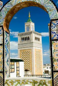 Tunez.Esta foto esta hecha desde una azotea preciosa en La Medina de Tunez Capital