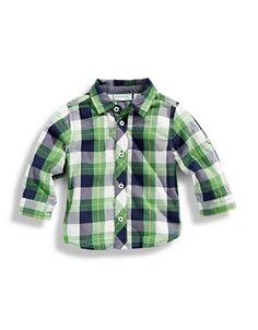 Kids' | Infant Boys | Plaid Roll Sleeve Shirt | Hudson's Bay