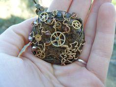 Steampunk Tree of Life Pendant  Bronzite  Watch by JbellsGems, $47.95