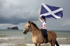 Scotland's national flag - The Saltire or St. Andrew's Cross.