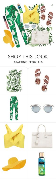"""""""Freshly"""" by fleuramour on Polyvore featuring Tory Burch, Dolce&Gabbana, Christian Dior, Delpozo, Yves Saint Laurent, Accessorize, NARS Cosmetics, outfit, ootd and fresh"""