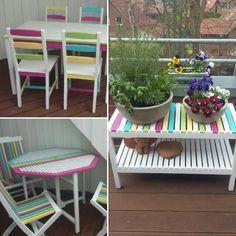 Aus Alt Mach Neu! Holzmöbel Abschleifen, Weiß Grundieren Und In  Sommerlichen Farben Streichen!