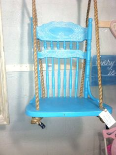 Hey, I found this really awesome Etsy listing at http://www.etsy.com/listing/130763535/upcycled-shabby-chic-chair-swing