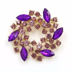 #Rhinestone #Brooch #Pins #Jewellery