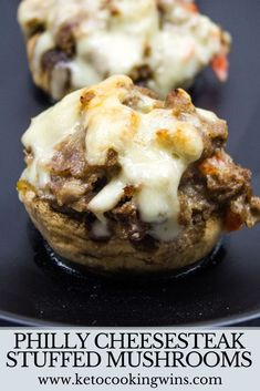 This easy keto stuffed mushroom recipe is a hit! It's beefy, creamy, and cheesy, and with loads of flavor, these Philly Cheesesteak Stuffed Mushrooms are the perfect keto appetizer and keto snack!