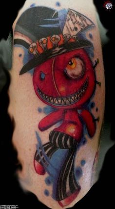 Voodoo doll tattoos are the most popular voodoo tattoos, but there are many varieties. Check out this gallery of all kinds of voodoo tattoos! Drug Tattoos, Bear Tattoos, Tatoos, Voodoo Doll Tattoo, Voodoo Dolls, Iron Maiden Mascot, Tattoo Trend, Magic Symbols, Future Tattoos