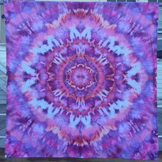 """Warm Sunset"" - Check out this item in my Etsy shop https://www.etsy.com/listing/262294483/mandala-tie-dye-tapestry"