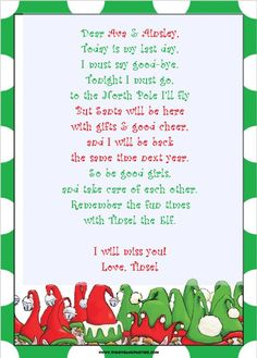 elf on shelf letter template tinsels antics shenanigans day 30 elf on