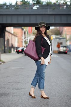 Mode Monday | Fall Uniform - Glamamom®-cute minus the hat, I love hats but not this one.