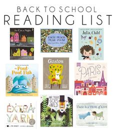 Favorite Children's Books // Back to School Reading List // Life as a Noel Blog