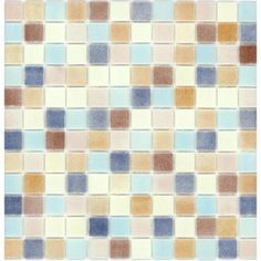 Elida Ceramica Recycled Shells Gl Mosaic Square Indoor Outdoor Wall Tile Common