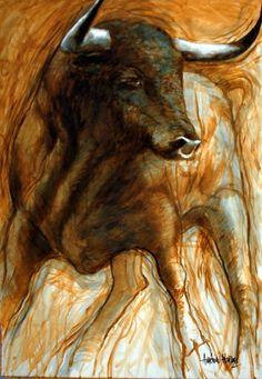 cuadros modernos toro en siena