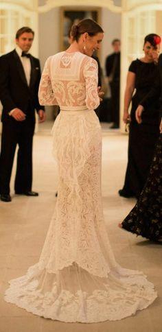 Custom #Givenchy Lace #Wedding #Dress {Vanessa Traina}