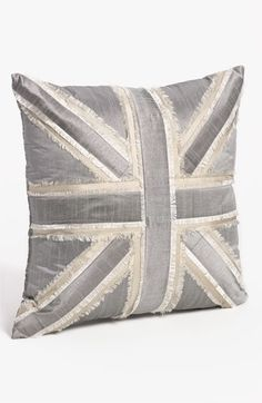 metallic union jack pillow | nordstrom