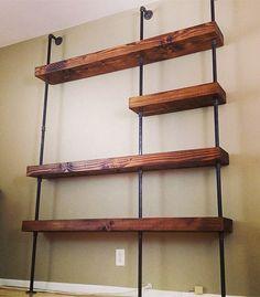 Industrial Pipe Shelf by SaltandGrain on Etsy, $1200.00