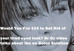 Dr Oz Talks Peptide creams and serums no botox needed, but similar results.. video says that by using the peptide based