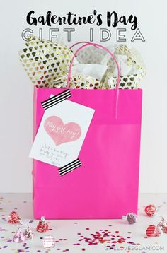 Galentine's Day Gift Idea and Free Printable on www.girllovesglam.com…