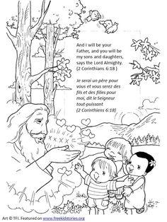 Dieu est mon Père coloriages enfants 2