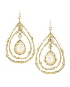 Cypress Drop Earrings in Ivory