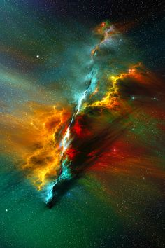 The Serenity Nebula by Casperium | It looks kind of like a cosmic spear.