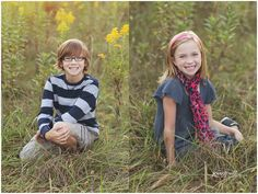 10 year old child photography; 8 year old child photo ideas; child photography in grassy field