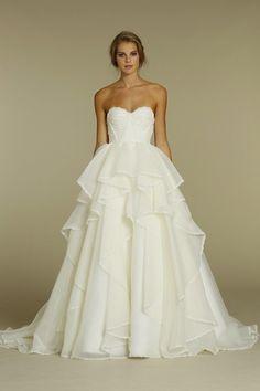 Preston Bailey Bride Ideas, Strapless Wedding dress, classic wedding dress silhouette. GORGEOUS