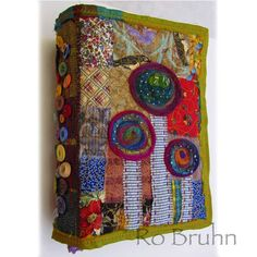 """Hand made fabric and decorated paper journal by robruhn on Etsy        """"Love!"""""""
