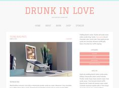 Responsive Blog WordPress Genesis Theme Drunk In by taneanicole
