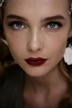 Berry-stained lips