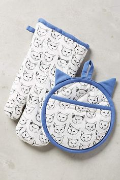Cat Study Potholders by Leah Goren #Anthropologie