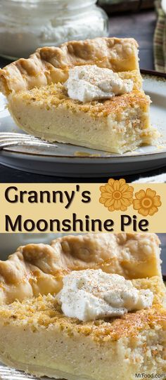 This simple, custard-style pie is made with a splash of something you might have caught Granny sippin' when no one was lookin'! Granny's Moonshine Pie is sweet, creamy, and great for sharing. Don't forget to top each slice with a dollop of our homemade whipped cream!