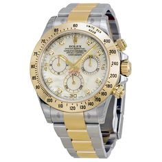 Rolex Daytona Cosmograph Two Tone Stainless Steel Yellow Gold Mother of Pearl Dial Watch 116523MDO
