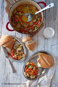 Chicken and Beer Summer Stew. One pot, 20 minutes, so good.
