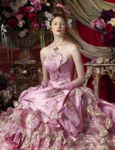 Gorgeous pink gown, wedding dress