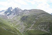 Segantinihütte (de) (Death place of Giovanni Segantini) on top of the grassy summit, Muottas Muragl, Pontresina, Switzerland