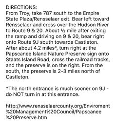 Directions to papscanne nature preserve