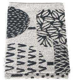 Taikametsa Bath/Sauna Towel, Black/white