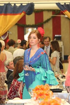Princess Alexia, pictured, wore a beautiful flamenco dress with a blue shawl for the event. Dutch Princess, Royal Princess, Prince And Princess, Adele, Princess Pictures, Pink Scarves, Save The Queen, Queen Maxima, Royal House