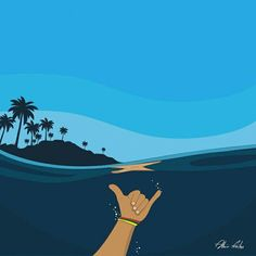 Barbados Surfing conditions are ideal for any level of surfer. Barbados is almost guaranteed to have surf somewhere on any given day of the year. Retro Surf, Vintage Surf, Surf Drawing, Posca Art, Surfing Pictures, Surf Style, Grafik Design, Beach Art, Waves