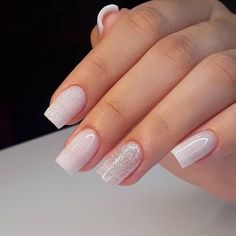 Make an original manicure for Valentine's Day - My Nails Bride Nails, Wedding Nails, Best Acrylic Nails, Acrylic Nail Designs, Perfect Nails, Gorgeous Nails, Pink Nails, My Nails, Green Nails
