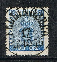 "Sweden 12ö blue. Postmarked ""Fellingsbro"""